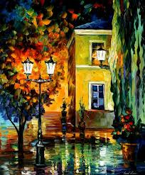 Best Painting Southern Night U2014 Palette Knife Oil Painting On Canvas By Leonid