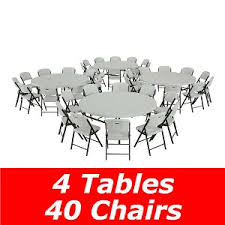 lifetime round tables for sale lifetime 80145 4 pack 6 tables 40 chairs on sale with free shipping