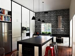 stylish kitchen modern kitchen interior design with stylish black white concept