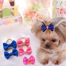 bows for 100 pcs lot handmade designer pet dog accessories grooming hair