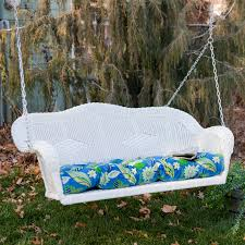 Outdoor Wicker Settee Cushions by Blazing Needles All Weather Outdoor Porch Swing Cushion 42 5l X