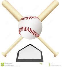 baseball emblem crossed bats over home plate stock image image