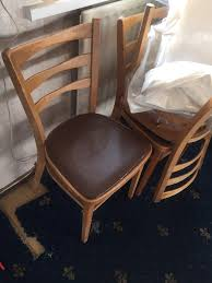 6 wooden chairs vintage old in bradford west yorkshire