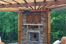 can you have a fully functioning outdoor fireplace on a deck