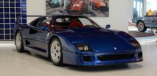 blue f40 f40 with tubi exhaust legendary ride
