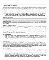 construction project manager resume samples 33899 plgsa org