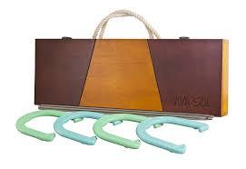 amazon com viva sol premium horseshoes set with wooden case