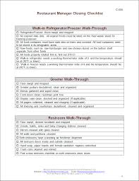 closing manager checklist restaurant consulting getting