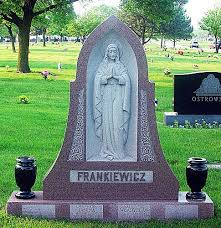headstones grave markers monumental works chicago cemetery headstones grave markers