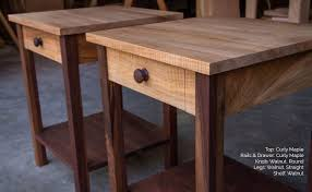 buy a handmade shaker inspired end side table nightstand of walnut