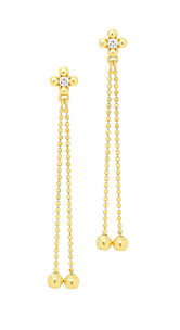 dangling earrings buy 14k yellow gold dangling earrings with cz stones at anny