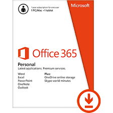 microsoft office 365 personal 1 year download version by office