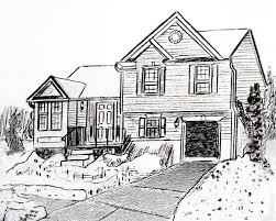 drawing houses important tools to create best houses landscape drawing home