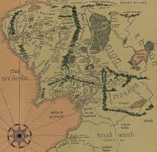 map from lord of the rings middle earth map by lord of the rings on deviantart