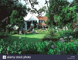 good class high quality european style modern house and garden in