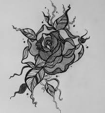 design flower rose drawing 21 flower drawings art ideas sketches design trends premium