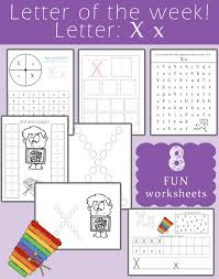 letter of the week letter x preschool activities thursday and