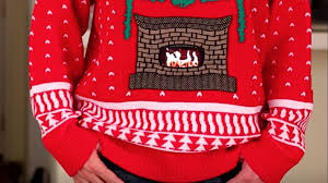 sweater turns smartphones into a yule log fireplace