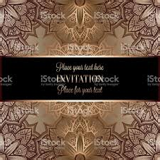 baroque background with antique luxury black and gold vintage