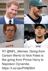 Nick Foles Meme - vote rt going from carson wentz to nick foles is like going from
