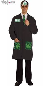 Doctor Costume Halloween Ken Abyss Costume Weed Leaf Doctor Costume Dr Marijuana