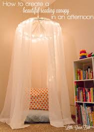 canopy beds for little girls how to make a reading canopy in an afternoon little green bow