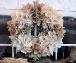 to earth style burlap wreaths