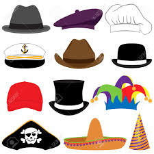 Photo Booth Accessories Vector Collection Of Hats Or Photo Props Royalty Free Cliparts