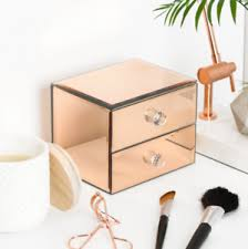 rose gold vanity table new copper rose gold dressing table set of mirrored drawers