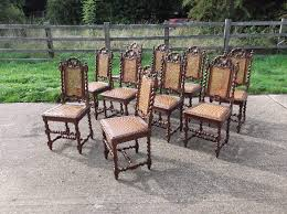 Wicker High Back Dining Chair Antique Furniture Warehouse Set 10 Oak And Cane Chairs Ten