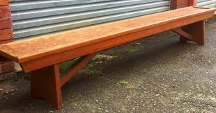 bench seat church pew industrial solid timber cafe vintage antique