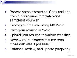 Copy Paste Resume Templates Sample Resume Copy Free Top Professional Resume Templates Simple