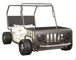 novelty bed jeep twin bed black