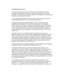 40 non disclosure agreement templates samples u0026 forms template lab