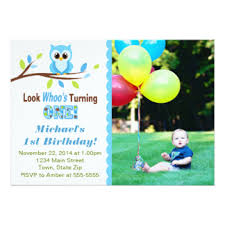 owl 1st birthday invitations u0026 announcements zazzle