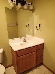 Framing Builder Grade Bathroom Mirror Frame A Mirror With Moulding And Tiles Hometalk