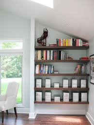 Ideas For Decorating A Small Living Room Utilize Spaces With Creative Shelves Hgtv