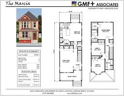 Floor Plans For Narrow Lots by Gmf Associates Architects Narrow Lot Urban House Plans
