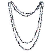 necklace stone beads images 6mm india agate beads necklace women handmade long jpg