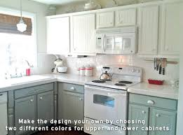 kitchen with top cabinets different color from lower google