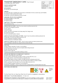 trec transport emergency cards