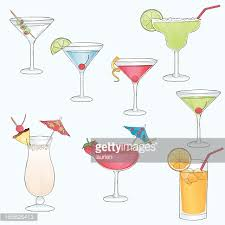 sketch drawn cocktail drinks vector art getty images