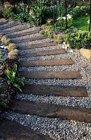 Gravel Backyard Ideas What U0027s Inspiring Me Gravel Landscaping Railroad Ties And Pea Gravel