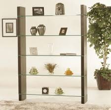 furniture brown wood book shelf room divider combine with cream