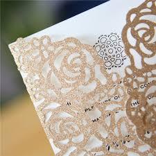 laser cut wedding programs gold floral laser cut wedding invitation
