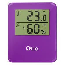 hygrom rie chambre thermomètre hygromètre intérieur violet otio leroy merlin