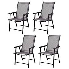 Patio Folding Chair Giantex 4 Pack Patio Folding Chairs Portable For