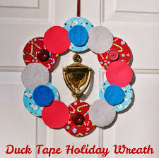 Holiday Wreath Life With 4 Boys Diy Duck Tape Inspired Holiday Wreath Duckthehalls
