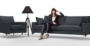 couch 3 sitzer mendini 3 sitzer sofa anthrazit made com