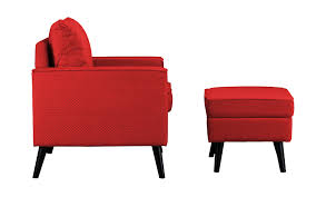 Microfiber Accent Chair Brush Microfiber Accent Chair And Storage Ottoman